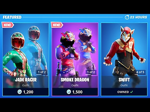 New Smoke Dragon & Jade Racer Skins! (Fortnite Item Shop Update)