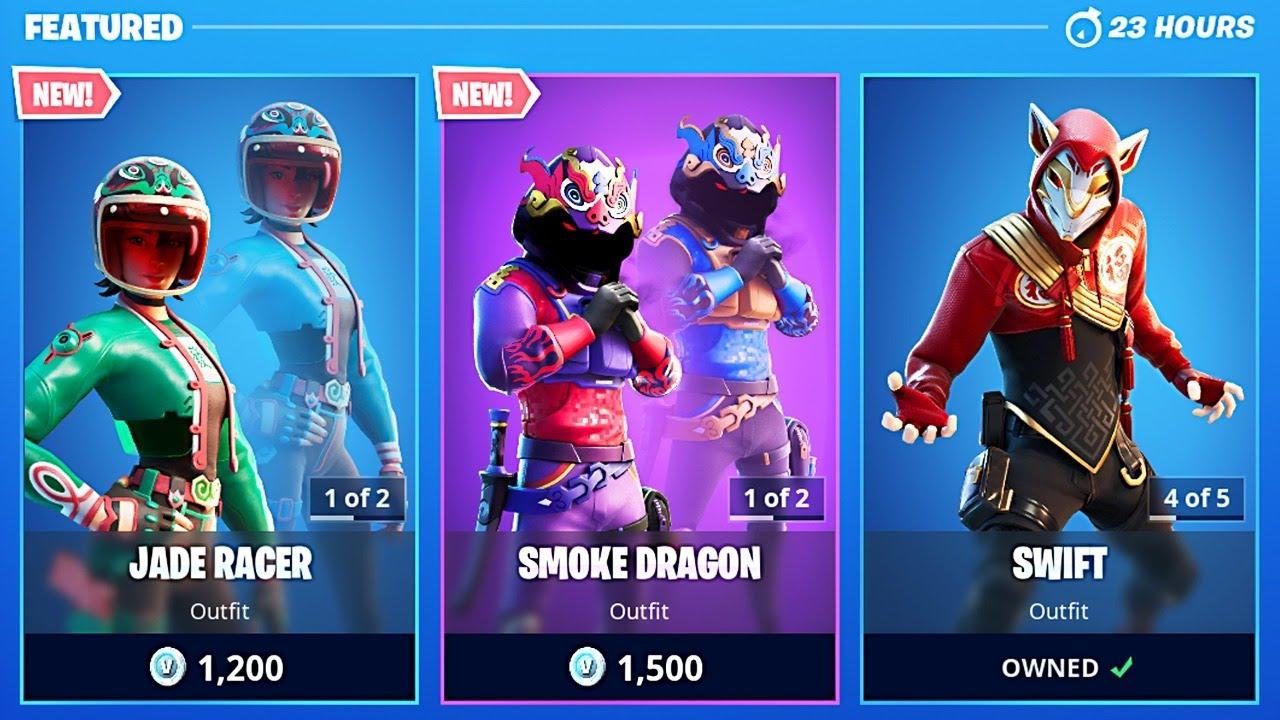 New Smoke Dragon & Jade Racer Skins! (Fortnite Item Shop Update) thumbnail