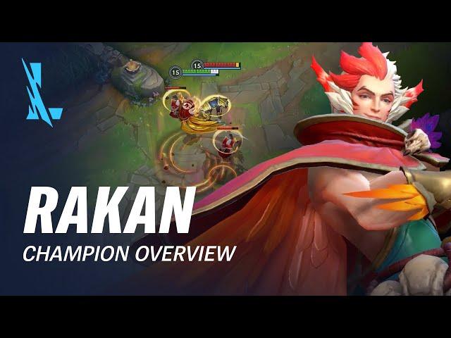 Rakan Champion Overview | Gameplay - League of Legends: Wild Rift