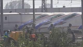 令和元年11月、廃車が決まって解体を待つ事になった?E7系W7系が有る、長野新幹線車両センター。