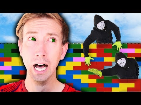LAST TO SURVIVE WINS - Build HACKER Proof $10,000 GIANT LEGO Safe House in 24 HOUR Battle Challenge
