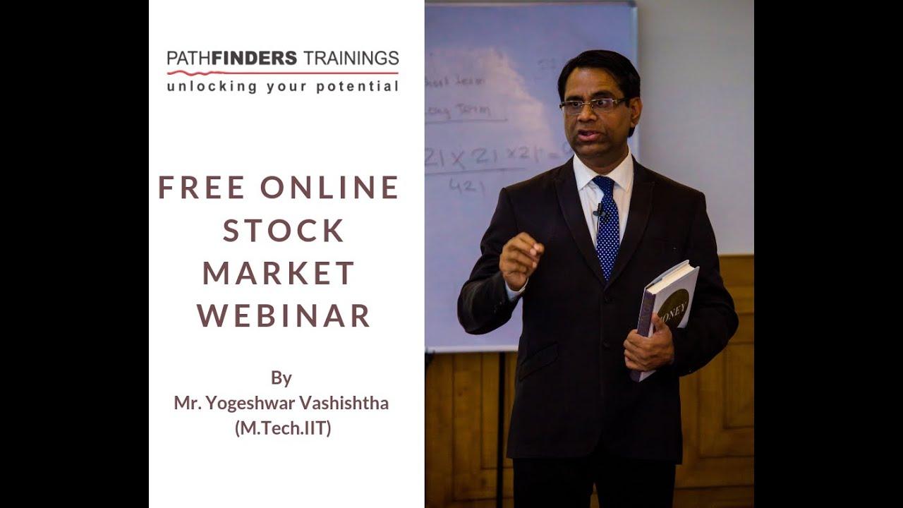 Free Online Stock-Futures-Options Training by Yogeshwar Vashishtha M-Tech-IIT