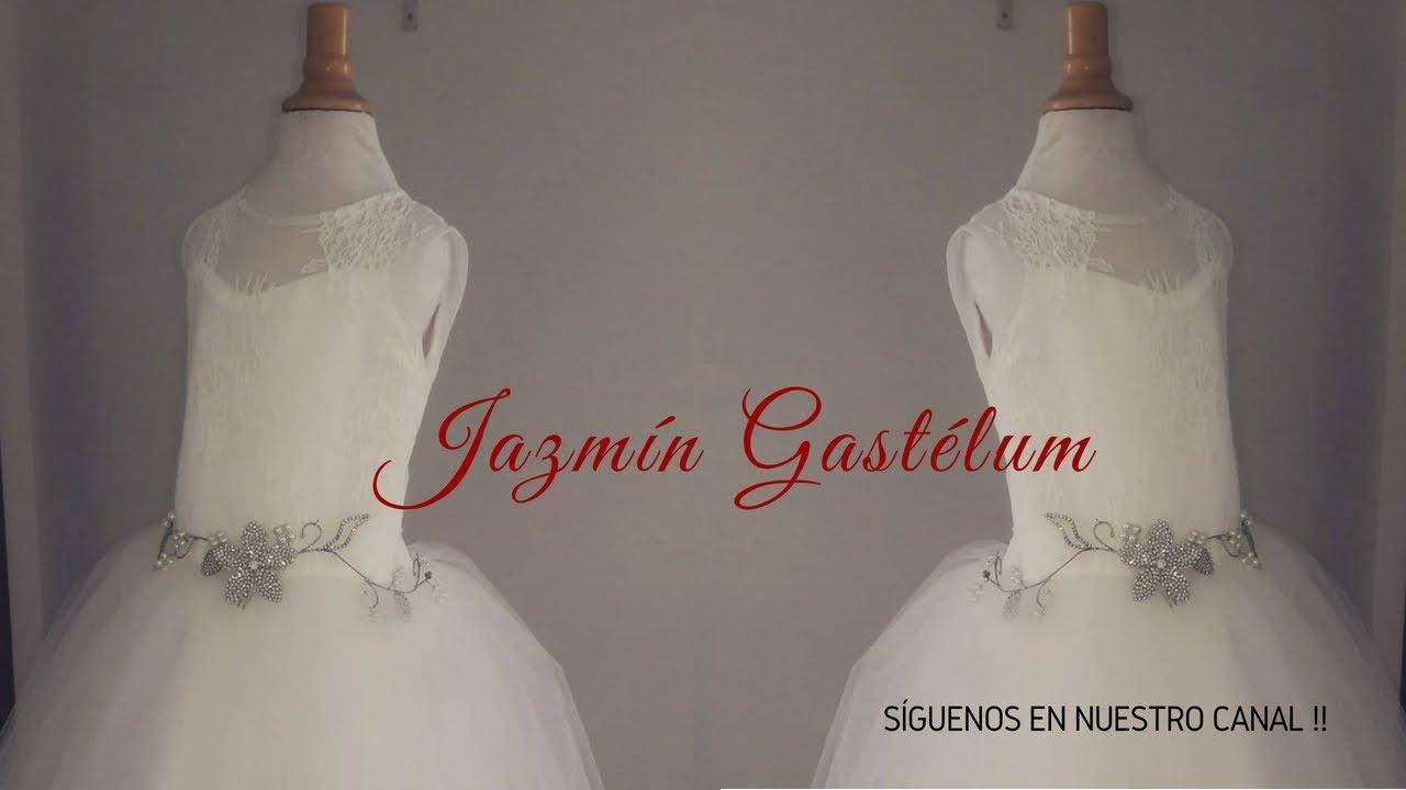 7e525a0bc Como Hacer un Vestido de Niña Para Fiesta -Jazmin Gastelum - YouTube