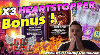 LIL DEVIL Slot HEARTSTOPPER BONUS ❤️ ( £2 BET ) Compilation CASINO WIN