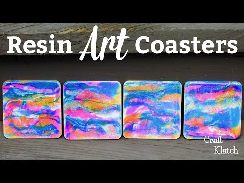 Easy Resin Art Coasters ~ Another Coaster Friday ~ Craft Klatch