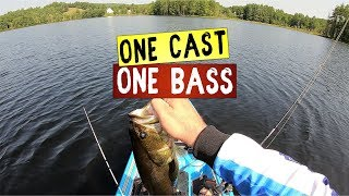 3.5lb Largmouth Bass Caught On Drop Shot - One Cast One Bass - Mini Moment 10