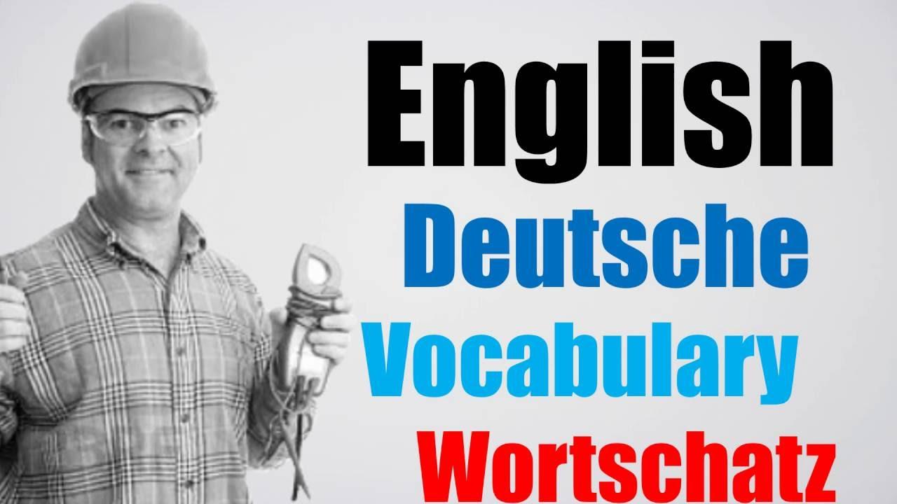 Video#98 Deutsch-Englisch Wortschatz Übersetzung German English ...
