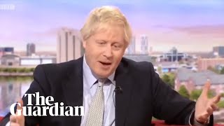 Boris Johnson struggles to say what makes him relatable to voters in BBC interview / Видео