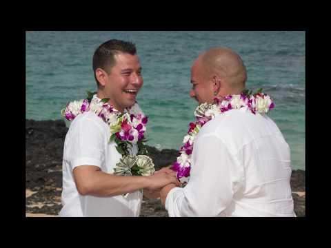 Gay Maui Beach Wedding Rings