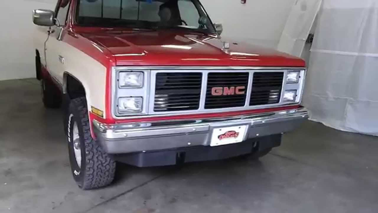 10 Box Truck For Sale >> DustyOldCars.com 1987 GMC Sierra 1500 4X4 red SN 1014 - YouTube