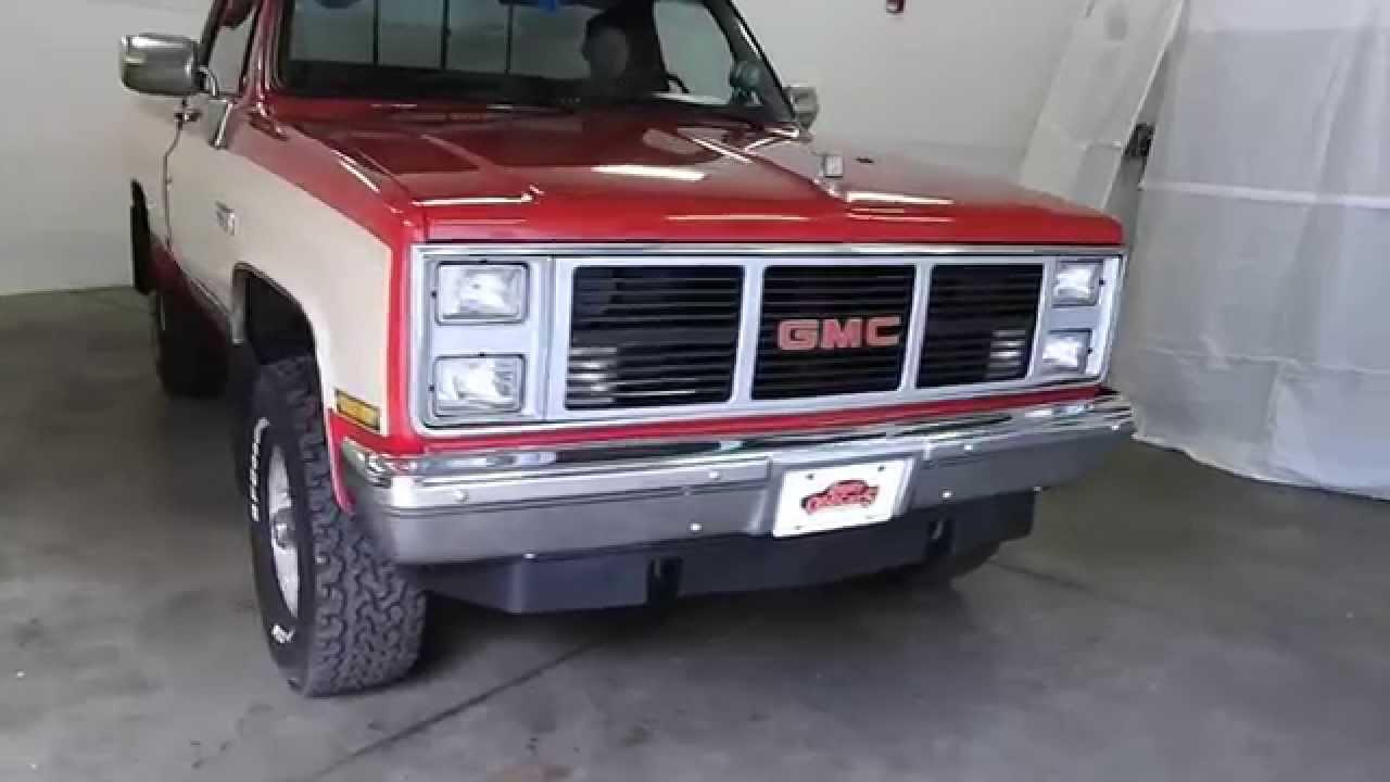 dustyoldcars com 1987 gmc sierra 1500 4x4 red sn 1014 [ 1280 x 720 Pixel ]