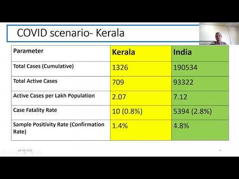 The Kerala COVID19 experience- Dr Rakhal Gaitonde