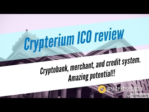 Crypterium ICO review : Crypobank, merchant, and credit system. Amazing potential!!