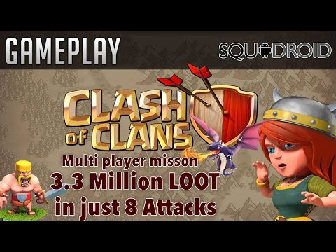 Clash of Clans Gamelpay (3.3 Million in 8 Attacks)