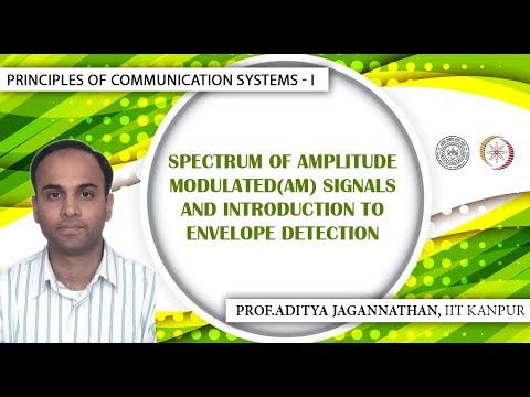 Spectrum of Amplitude Modulated(AM) Signals and Introduction to Envelope Detection