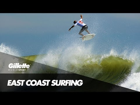 Surfing on the East Coast of America | Gillette World Sport