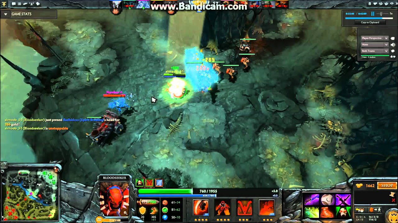 dota 2 1 v 5 win bloodseeker youtube