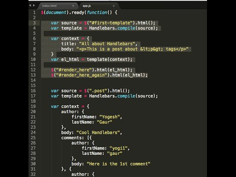 Handlebars JavaScript Templates in 8 minutes - YouTube