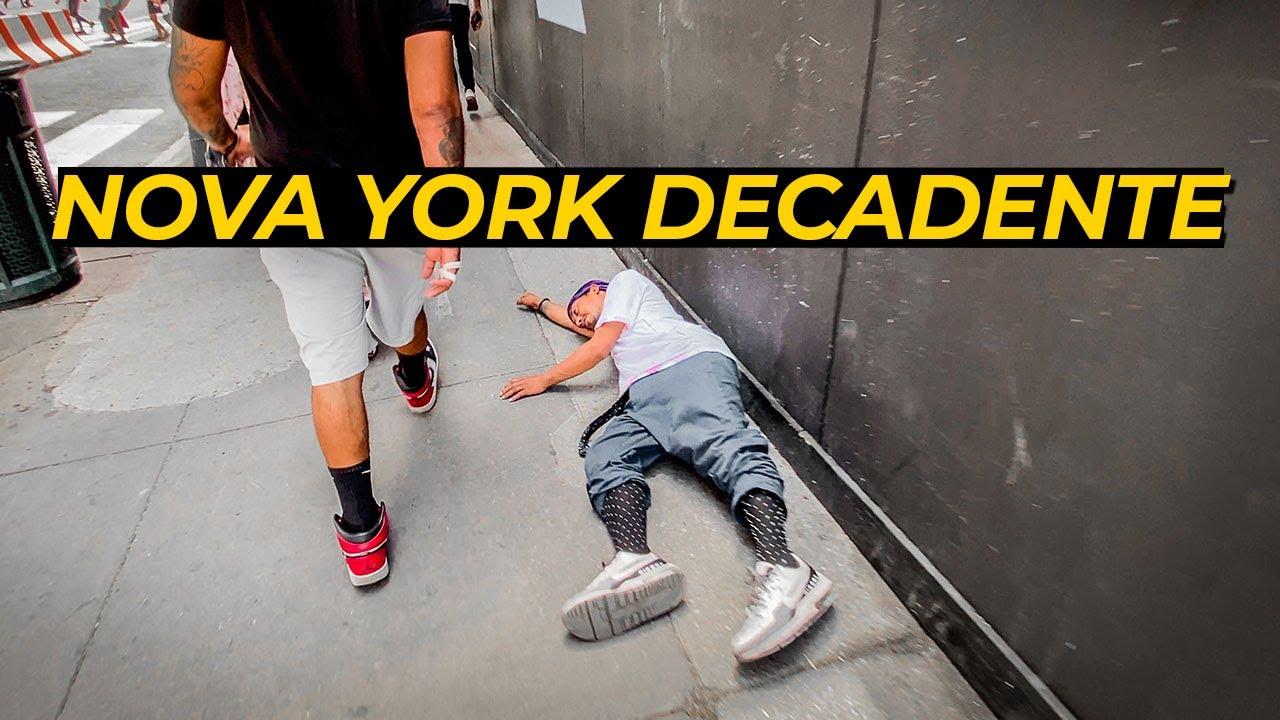 Um Grande Problema em Nova York | Sem Tetos, Traficantes e Usuários Invadem Ruas de Manhattan 😱