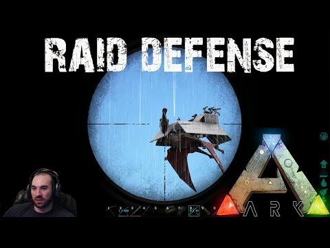 ARK Survival Evolved - Epic Raid Defense with Turret Quetzals! E30