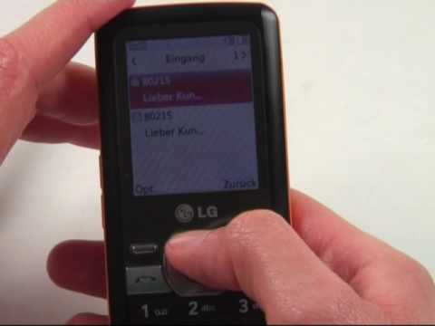 LG GM205 Test Bedienung