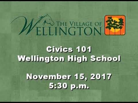 Wellington High School Civics 101 11/15/17