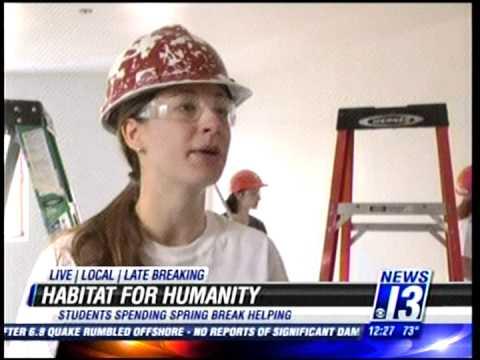 Students volunteer at Habitat for Humanity