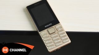 Philips Xenium E170: Kết nối Bluetooth cho iPhone/Android, pin chờ 100 ngày | H Channel