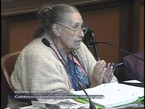 California Senior Legislature: Housing and Transportation Committee 10/26/2010