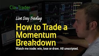 Live Day Trading - How to Trade a Momentum Breakdown