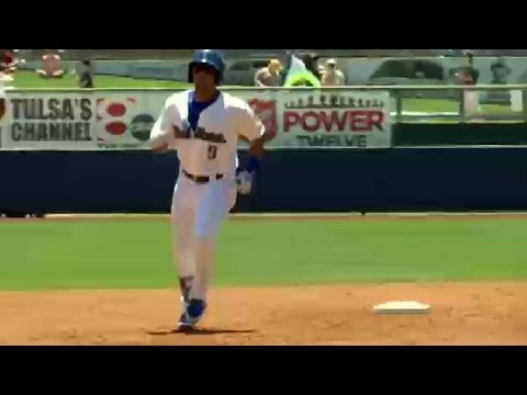 The Drillers Jose Miguel Fernandez swats a grand slam