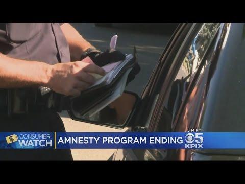 California Traffic Ticket Amnesty Program Ending