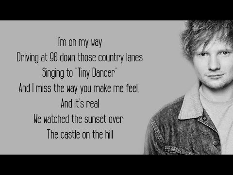 Castle On The Hill  Ed Sheeran Lyrics