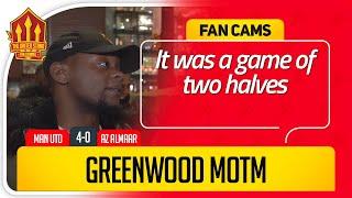 MASON GREENWOOD OUTSTANDING! Manchester United 4-0 AZ Alkmaar FanCam