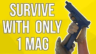 Survive with ONLY 1 Pistol Mag in an Airsoft Game | SS Airsoft (EMG SAI BLU)