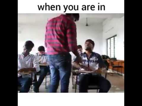 Examination hall when we are in first bench our position