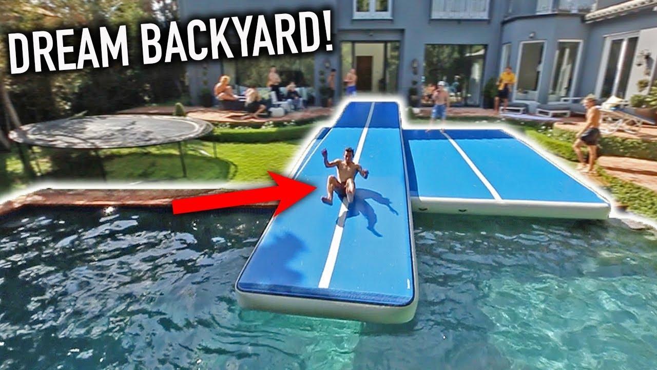 INSANE BACKYARD SLIP N SLIDE! (CRAZY FLIPS) - YouTube