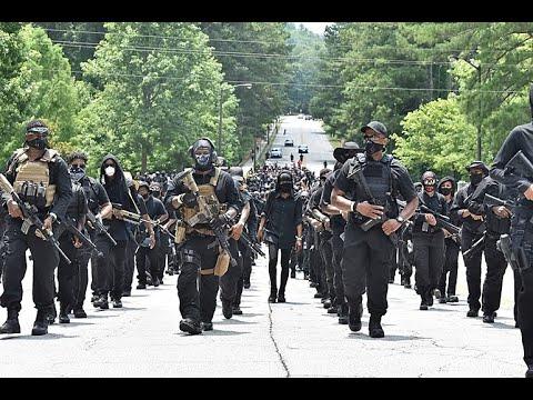 Armed Black Militia Marches On Confederate Monument