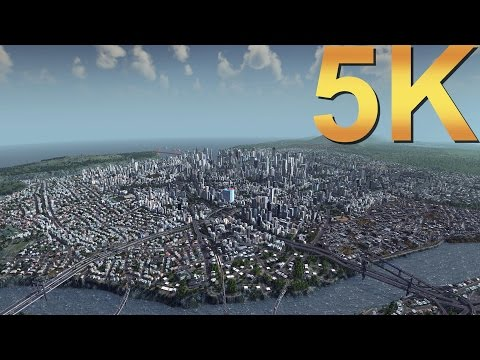 Cities Skylines 5K Gameplay City Overview High Resolution PC Gaming 4K | 5K | 8K And Beyond