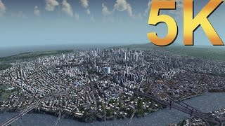 Cities Skylines 5K Gameplay City Overview High Resolution PC Gaming 4K   5K   8K and Beyond