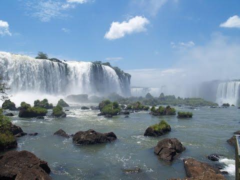 Водопады Игуасу/ Бразилия - Аргентина/Красивая природа, красивая музыка