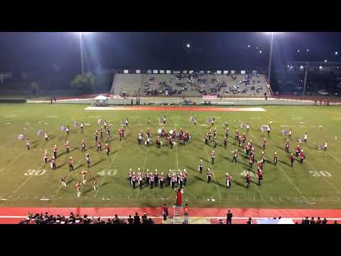 Eufaula HS Marching Band halftime at the Greenville game on 10-6-17