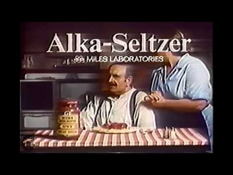 Funny Alka-Seltzer Mamma Mia Spaghetti Jack Somack TV Commercial ...