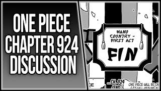 END OF ACT I ~ FIN | One Piece Chapter 924 Discussion | ワンピース