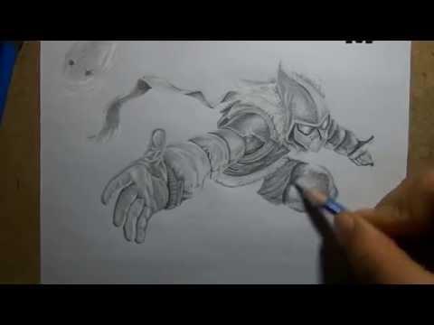 Pencil Drawing - Snow day Malzahar
