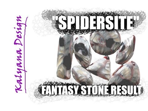 """spidersite"" - fantasy gemstone for Halloween - result cabochons - 429"