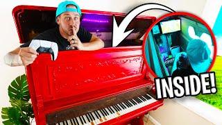 Secret Gaming Room INSIDE A PIANO!