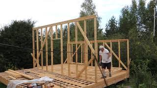 Каркасный дом в 2 руки. 6х6. часть 3. Стены.