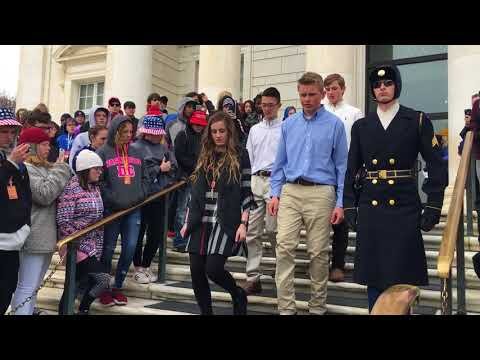 2018 Shallowater Middle School Tomb of the Unknown Soldier Wreath Ceremony
