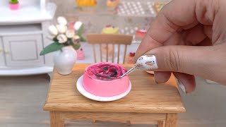 ASMR - Miniature Mousse Cake Recipes  Mini Food with Tiny Cake